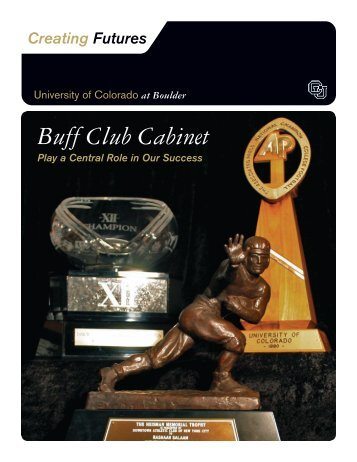 Buff Club Cabinet - University of Colorado Foundation
