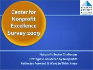 Pathways Forward & Ways to Think Anew - Center for Nonprofit ...