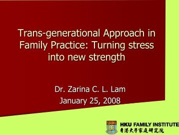 Transgenerational Approach in Family Practice: Turning stress ... - cifa