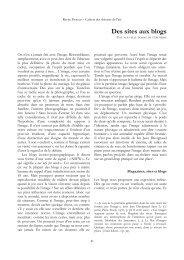 Des sites aux blogs - Revue Proteus