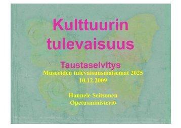 Hannele Seitsonen: Muistin tulevaisuus