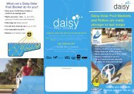 Daisy Solar Pool Blankets and Rollers are made - Savewater.com.au