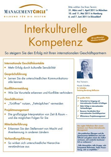 Interkulturelle Kompetenz - Nicole Schoettler Training Beratung ...