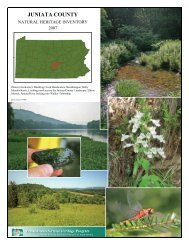 Juniata County Natural Heritage Inventory, 2007 - Pennsylvania ...