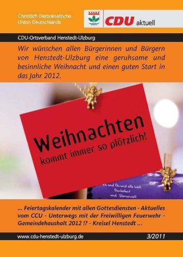 CDU-aktuell 03/2011 - CDU Ortsverband Henstedt-Ulzburg