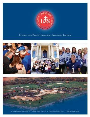 Secondary Student Handbook - Lenawee Christian School