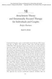 Attachment Theory AND EFT for individuals and Couples