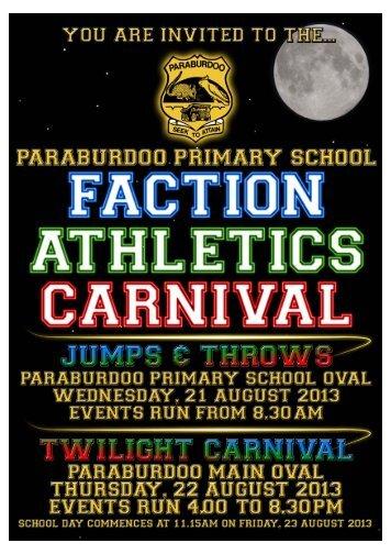Faction Athletics Carnival 2013 community program - Paraburdoo ...