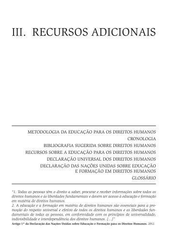 III. RECURSOS ADICIONAIS