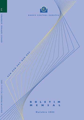 Boletim Mensal do BCE - Outubro 2002