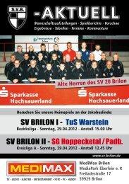 10. Ausgabe vom 29.04.2012 (PDF 5,85MB - SV 20 Brilon