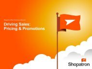 Driving Sales: Pricing & Promotions - Shopatron