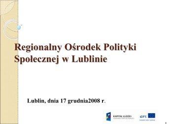 prezentacja - Małgorzata Mądry (ROPS) - Miejski Ośrodek Pomocy ...