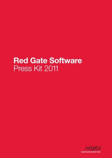 Red Gate Software Press Kit 2011