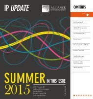 Alliance for IP Newsletter Summer 2015