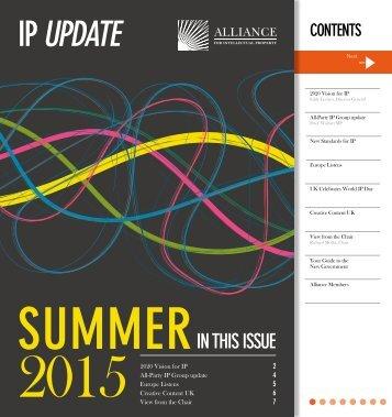 Alliance for IP Newsletter Summer 2015