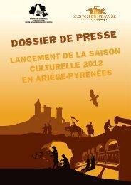 DOSSIER DE PRESSE - Grands Sites Ariège Midi-Pyrénées