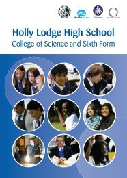 Holly Lodge High School College of Science and Sixth Form - Hays