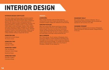 INTERIOR DESIGN - Delaware College of Art and Design