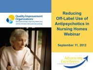 Reducing Off-label Use of Antipsychotics in Nursing Homes ... - Gmcf