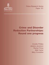 Crime and Disorder Reduction Partnerships: Round one progress