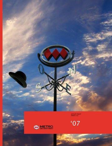 annual report metro s.a. - Metro de Santiago