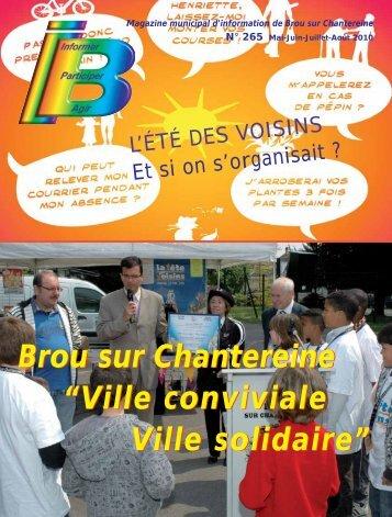 """Brou sur Chantereine """"Ville conviviale Ville solidaire"""" Brou sur ..."""