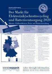Der Markt für Elektro(nik)schrottrecycling und ... - trend:research