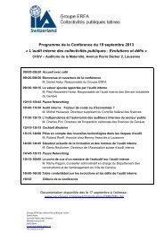 Programme de la Conférence du 19 septembre 2013 « L ... - SVIR