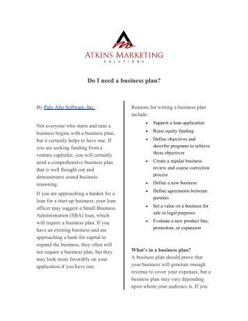 I need a business plan!?