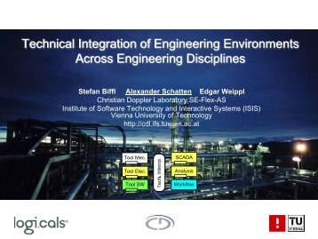 Technical Integration and Security - Software Engineering ...
