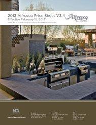 2013 Alfresco Price Sheet V3.4 - Milestone Distributors