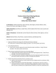 FirstLine Schools Board Meeting Minutes September 26, 2012 4:00 ...
