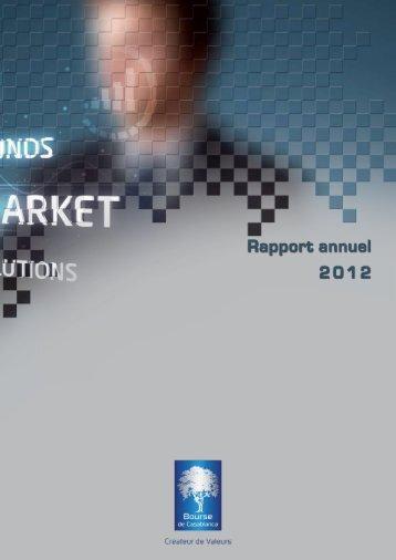 Rapport annuel 2012 - Bourse de Casablanca
