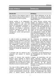 Code of Ethics Ethikkodex - SVIR