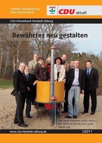Bewährtes neu gestalten - CDU Ortsverband Henstedt-Ulzburg