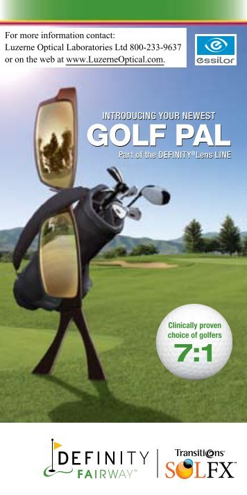 GOLF PAL GOLF PAL - Luzerne Optical Labs