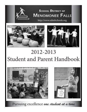 2012-2013 Student and Parent Handbook - Menomonee Falls ...