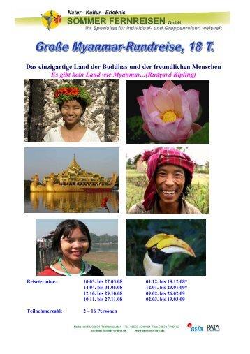 Das einzigartige Land der Buddhas und der freundlichen Menschen ...