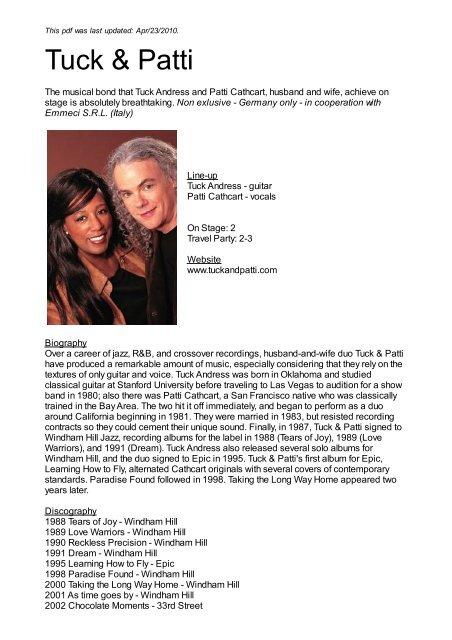 Tuck & Patti - Nova Concerts International