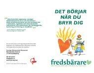 Fredsbärarfolder (pdf) - Sveriges Ekumeniska kvinnoråd