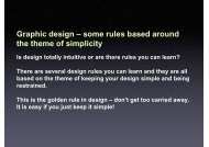Graphic design – some rules based around the theme of simplicity