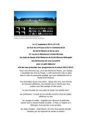 Le 11 septembre 2012 à 9 h 30 au Club de la Presse et de la ...