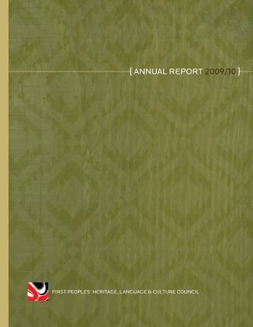 { Annual Report 2009/10 } - First Peoples