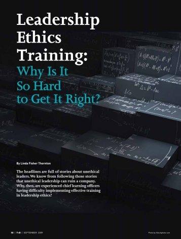 Leadership Ethics Training: - Strandtheory.org