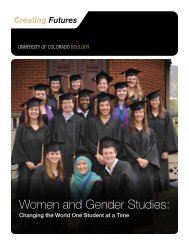 Women and Gender Studies: - University of Colorado Foundation