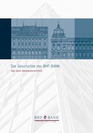 Die Geschichte der BHF-BANK - BHF-BANK Aktiengesellschaft