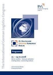 zum 25. Deutschen Logistik-Kongress - BrainNet