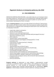 Regulamin Konkursu na kampanię społeczną roku 2010 § 1. CELE ...