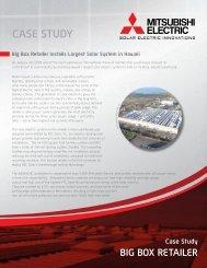 CASE STUDY BIG BOX RETAILER - Mitsubishi Electric